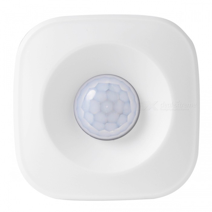 AG-security Smart 2.4GHz Wi-Fi PIR Motion Automation Sensor Detector with APP Push Notification - White