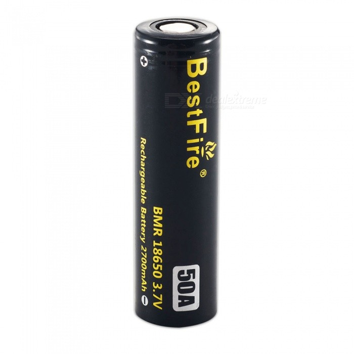 BestFire IMR 18650 2700mAh 50A Rechargeable Lithiun Battery - Black