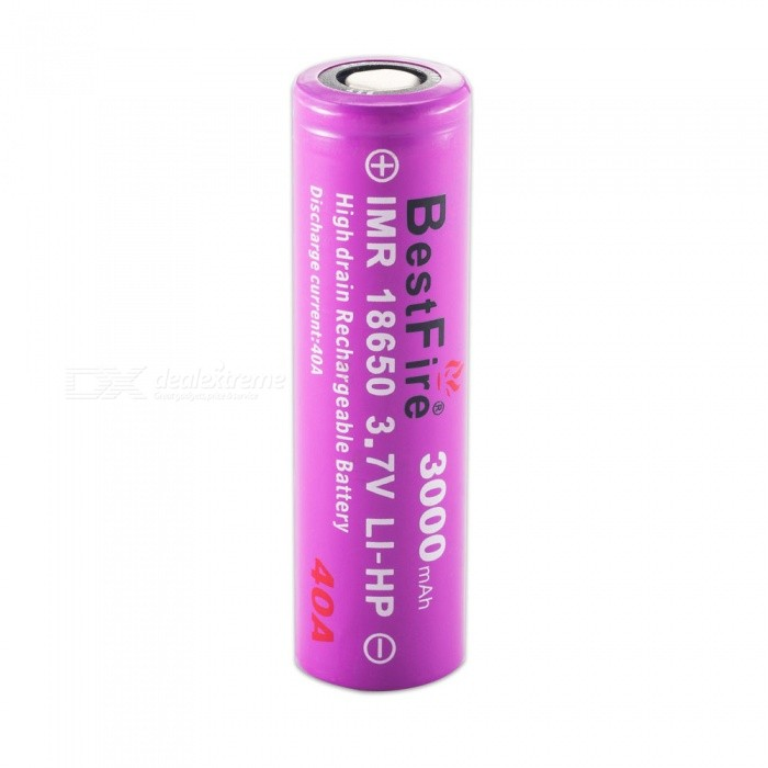BestFire IMR 18650 3000mAh 40A Rechargeable Lithiun Battery - Purple