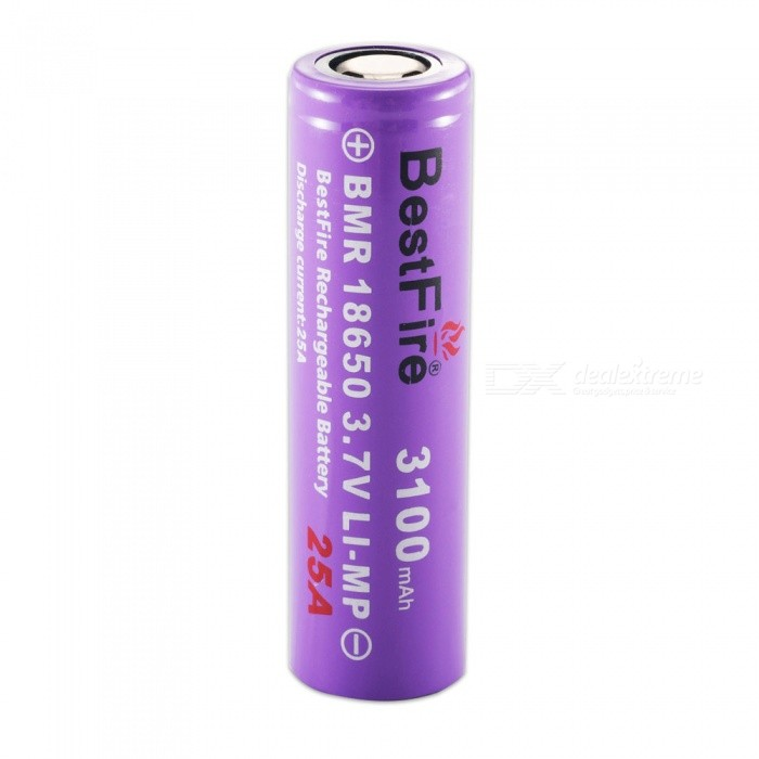 BestFire IMR 18650 3100mAh 25A Rechargeable Lithiun Battery - Purple