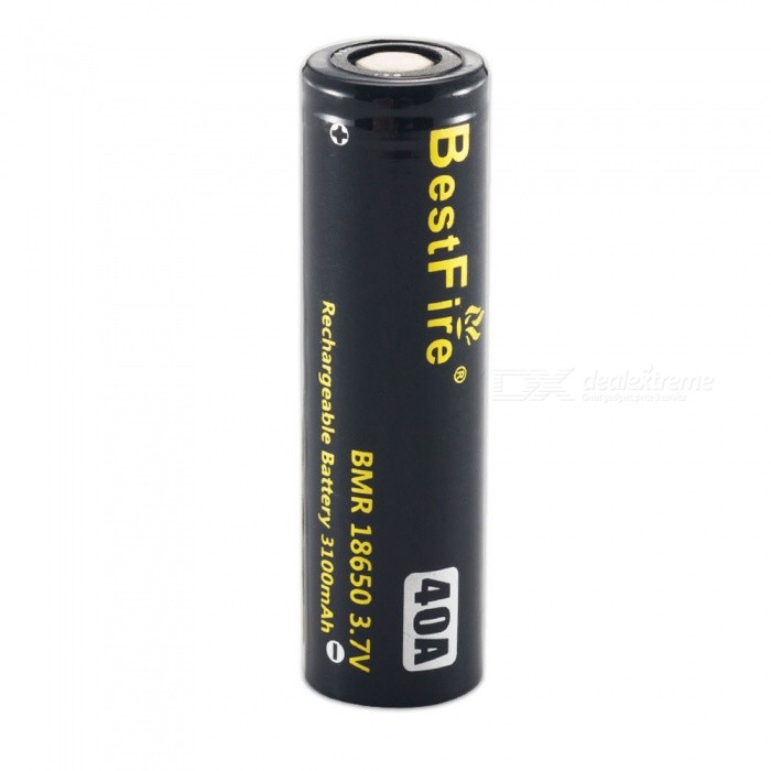 BestFire IMR 18650 3100mAh 40A Rechargeable Lithiun Battery - Black