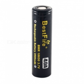 BestFire IMR 18650 3500mAh 40A Rechargeable Lithiun Battery - Black