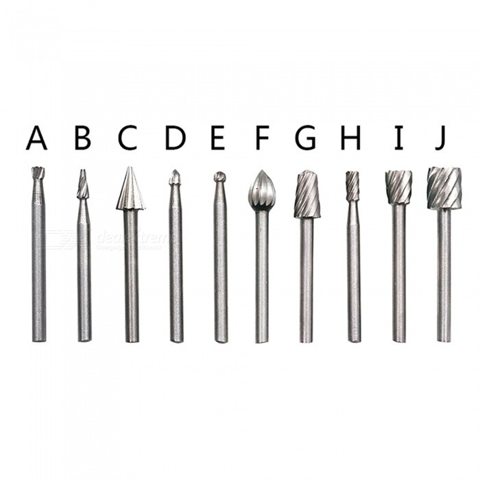 10Pcs High Speed Steel Mini Rotary File Tool