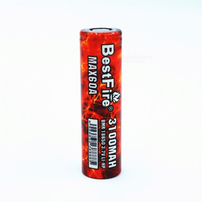 BESTFIRE IMR 18650 3100mAh 60A Rechargeable Lithiun Battery - Red