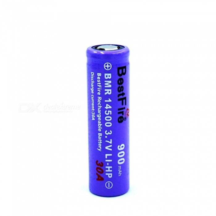 BESTFIRE IMR 14500 900mAh 30A Rechargeable Lithiun Battery - Purple