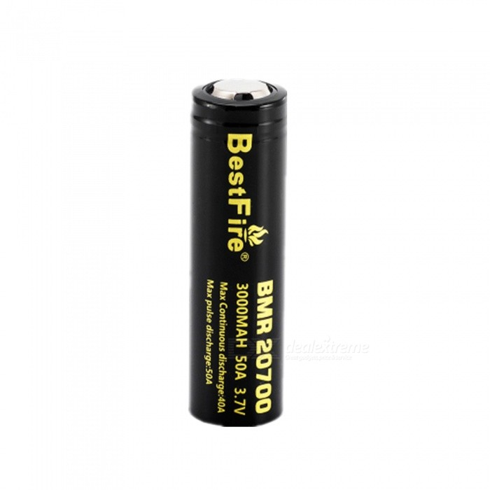 BESTFIRE IMR 20700 3000mAh 50A Rechargeable Lithiun Battery - Black