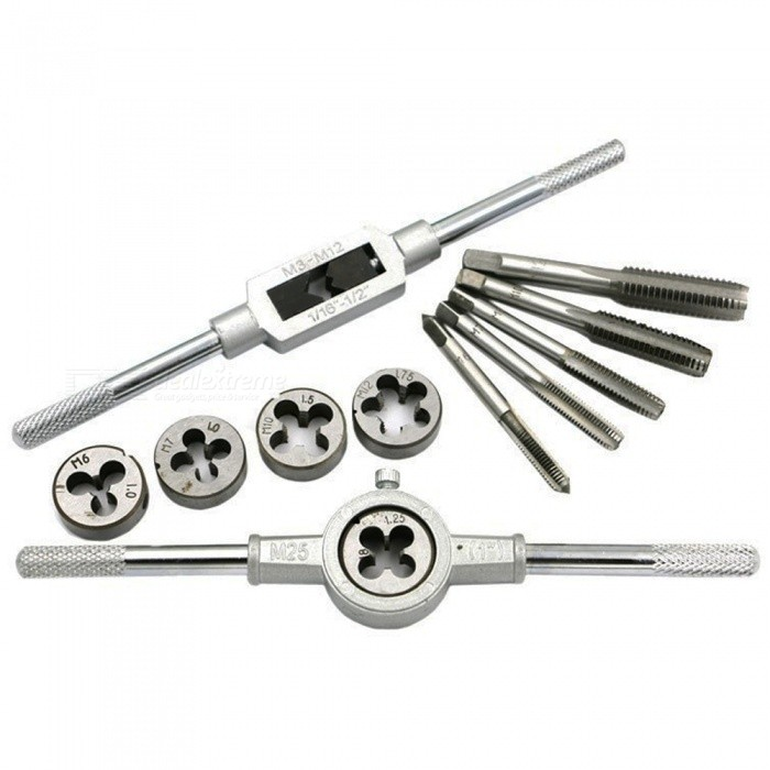 12-Piece Tap and Die Wrench Tool Set