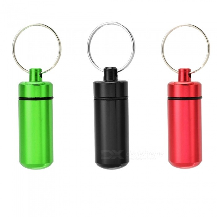 XSUNI Outdoor Pill Tablet Storage Cases with Keyrings (3 Pieces)