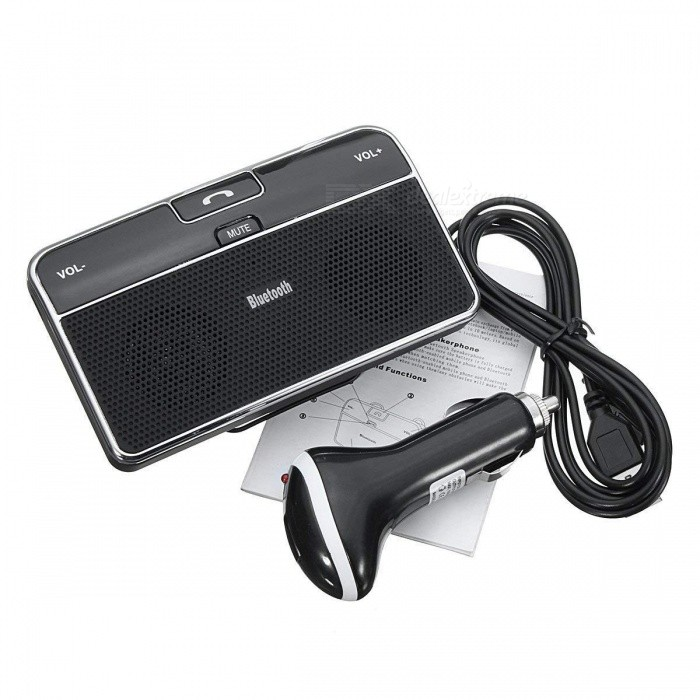 JEDX Universal Sun Visor Mounted Bluetooth Car Kit Music Receiver Wireless Bluetooth 4.0 + EDR Handsfree Calling