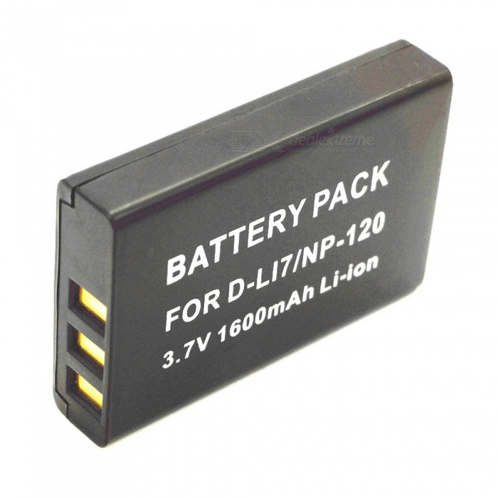 3.7V 1600mAh Full-Decoded Lithium Battery for Fuji D-LI7/NP-120, Ou Da D9/D80 D9/D80 - Black