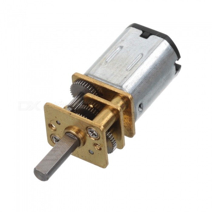 N20 DC 6V 150Rpm Metal Gear Motor - Silver + Golden