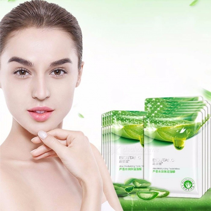 10 PCS Facial Mask Aoe Hyaluronic Acid Acne Cleansing Beauty Mask Face Masks Whitening Skin Care Face Mask