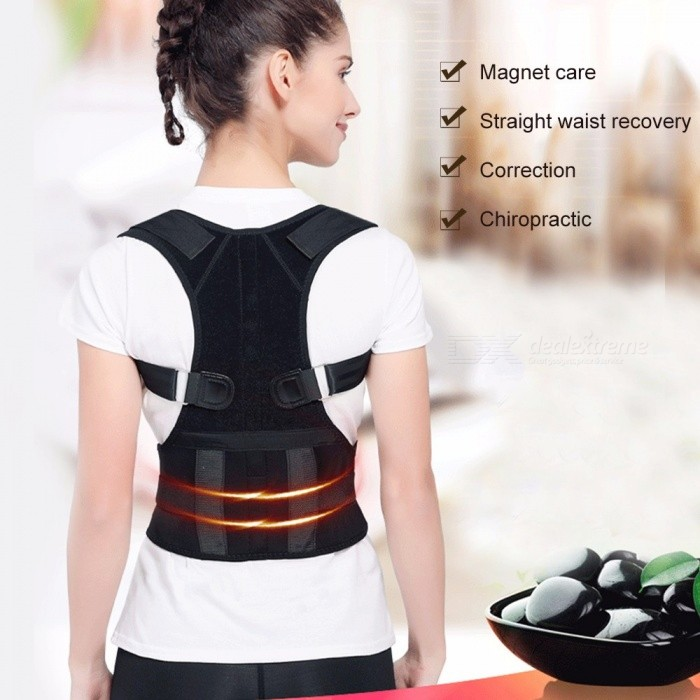 Magnetic Belt Orthopedic Magnetic Therapy Corset Back Posture Corrector Shoulder Back Support WT-C932 XLarge