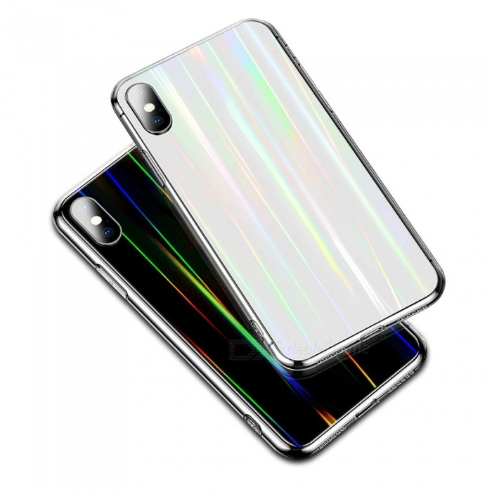 Ultrathin Anti-explosion Phone Cases Transparent Dirt-resistant Glass Mobile Phone Fitted Case For IPhone X Clear/IPHONE X