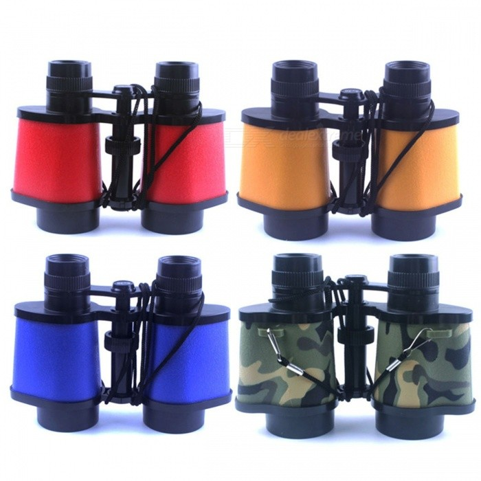 8X30 Magnifier Children Binoculars Mini Kid Scope Telescopes For Child High-definition Toys Glasses Eyepiece Blue
