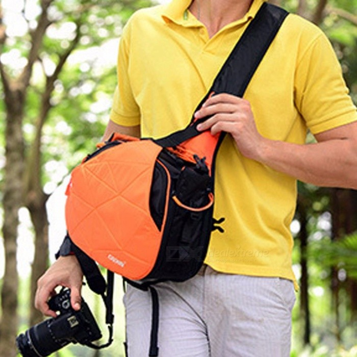 Caden K1 Waterproof Camera Storage Bag Outdoor Travel Crossbody Bag For Camera, Lens, Accessories Orange