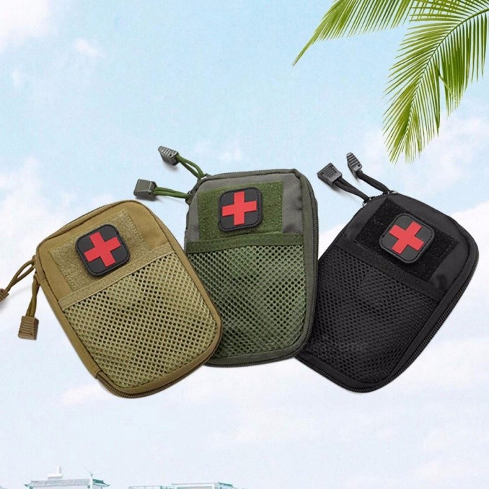 Tactical Medical Kit Self Defense Camouflage Security Emergency Kits Accessory Bag Outdoor Camping First Aid Kit Black