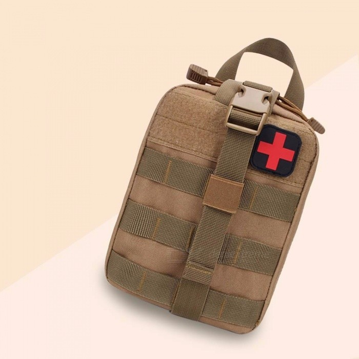 Tactical Medical Kit Self Defense Camouflage Security Emergency Kits Accessory Bag Outdoor Camping First Aid Kit Red