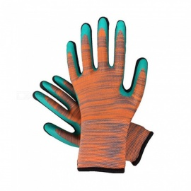 13-Pin-25cm-Latex-Foam-Comfortable-Non-Slip-Wear-Resistant-Soft-Garden-Gloves-Labor-Work-Gloves-For-Adults-(12-Pairs)-Green