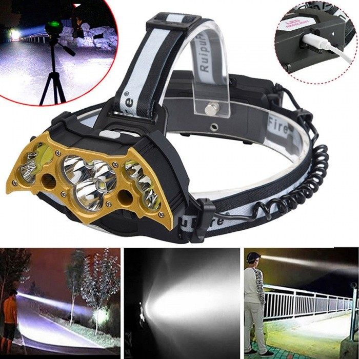 ESAMACT Personality Bat Shape Head Light Super Bright led Adjustable Headlight Torch For Camping