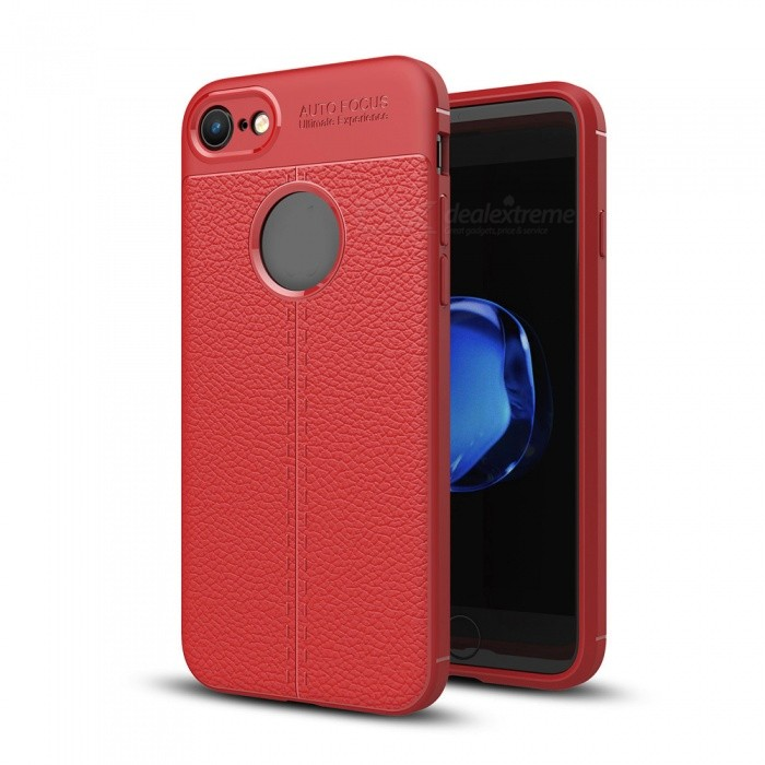 316cd5f368a08 ZHAOYAO Leather Pattern Protective TPU Soft Back Cover Case for IPHONE 7 /  8 - Red