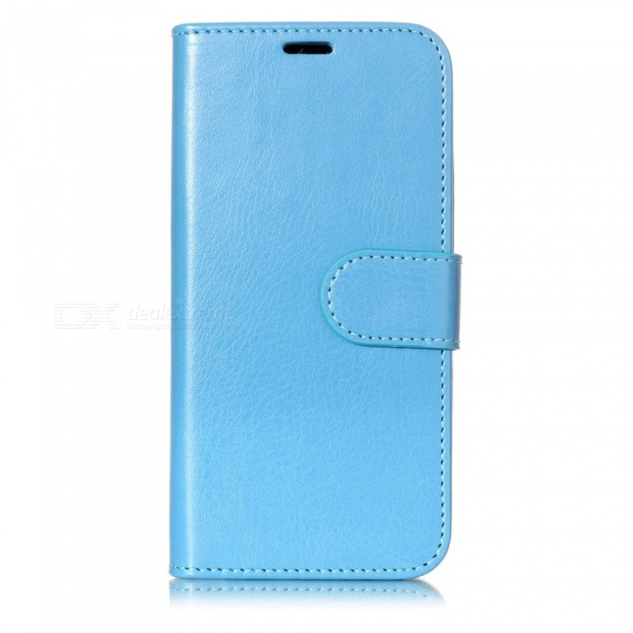 Flip-Open Leather Wallet Phone Cover Case for IPHONE X - Blue