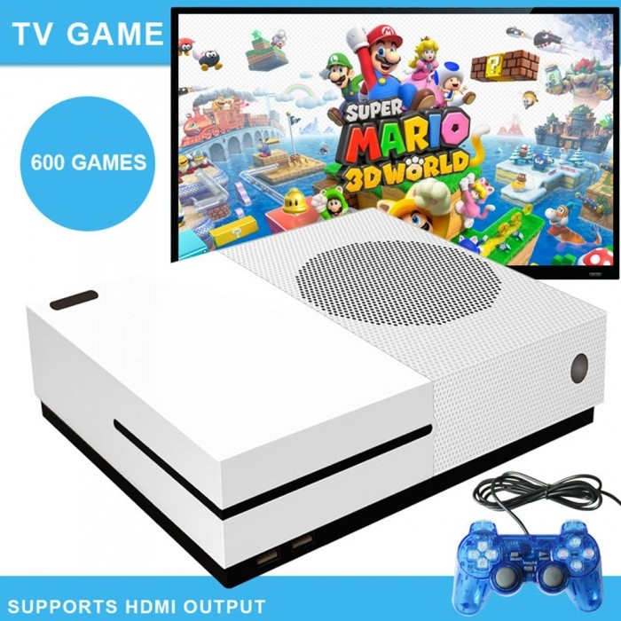 X GAME 64 Bit Retro Classic HD Video Game Console, HDMI Output Retro Game Player w/ Built-in 600 Games - EU Plug