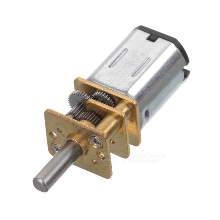 N20 DC 6V 500Rpm Metal Gear Motor - Silver + Golden