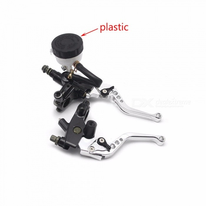 ZS-Racing-Universal-CNC-22mm-Motorcycle-Brake-Clutch-Kit-Levers-Master-Cylinder-Reservoir-Set-Silver