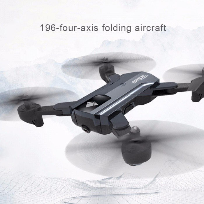 196 RC Drone Folding Quadcopter Headless Mode Optical Flow Positioning Aircraft With 720P WIFI Dual Camera Gray