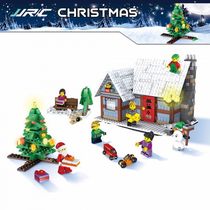 JJRC 1002 Christmas Village Small Building Blocks DIY Assembled Puzzle Toy Educational Toys For Kids Multicolor