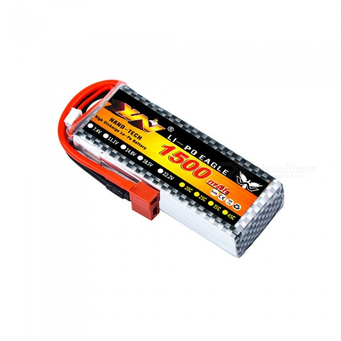 Original High Quality 4S 14.8V 1500MAH 30C Battery with T Plug for Car Airplane Boats Helicopter
