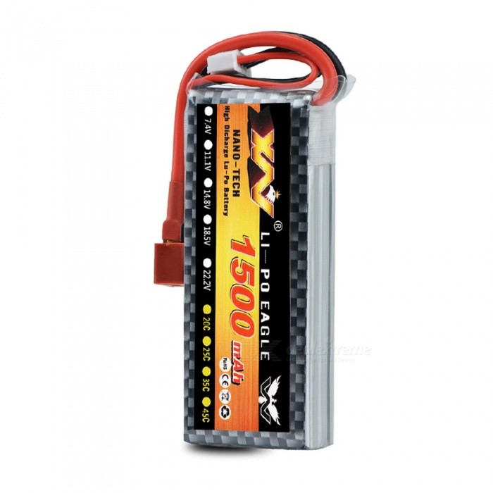 Original High Quality 6S 22.2V 1500MAH 30C Battery with T Plug for Car Airplane Boats Helicopter