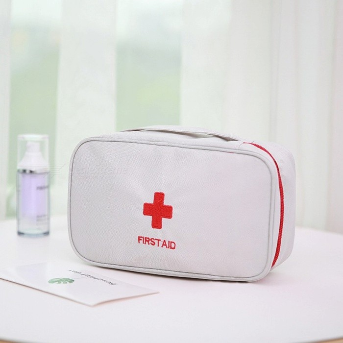 Portable Camping First Aid Emergency Medical Bag, Empty Survival Safety Rescue Bag For Outdoor Travel White