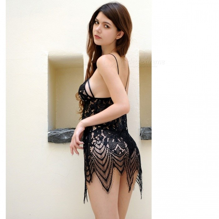 c848bd5bd ... Lingerie Sexy Roupa Interior Das Mulheres Hot Dress SM Backless Sling  Lace Babydoll Chemise Trajes Sexy ...