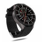 KW88 PRO 2MP Camera 1GB RAM 16GB ROM SIM Card 3G WIFI GPS Smartwatch Heart Rate Monitor - Black + Multicolor