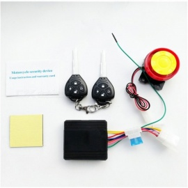 Theft-Protection-Remote-Activation-Motorbike-Alarm-System-Motorcycle-Remote-Control-With-Keys-Black