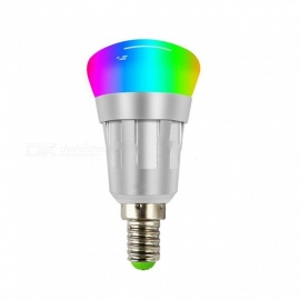 E14 7W RGB Light Color Wi-Fi Wireless Remote Control Smart LED Bulb AC85-265V, Works With Alexa And Google Home RGB/7w/Yes