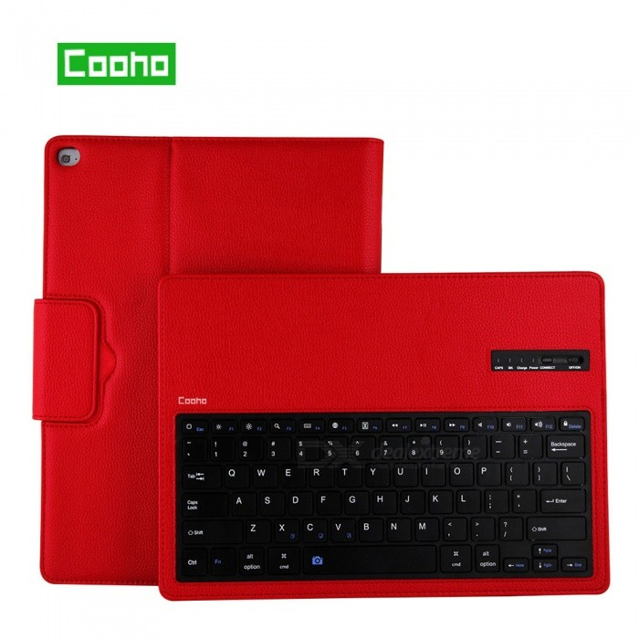 Cooho-Lychee-Pattern-Detachable-Bluetooth-Keyboard-Case-for-IPAD-Pro-129-Red