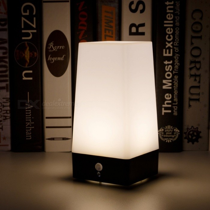 LED Emergency Night Light Chargeable Battery Bedside Square Creative Lamp Table Night Lamp Bar Light Warm White/White