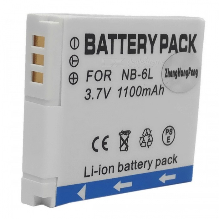 NB-6L 3.7V 1100mAh Battery Pack for Canon IXUS85/IXUS95 IS + More