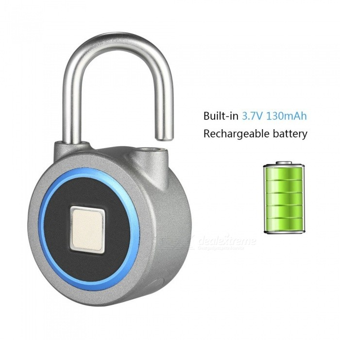 Access Control Security & Protection Sensible Usb Rechargeable Smart Keyless Fingerprint Lock Anti-theft Security Padlock Door Luggage Case Lock 3d Aluminum
