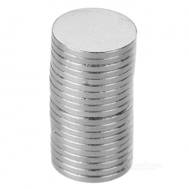 Super Strong Rare-Earth RE Magnets -Silver (20PCS/10mm*1mm)