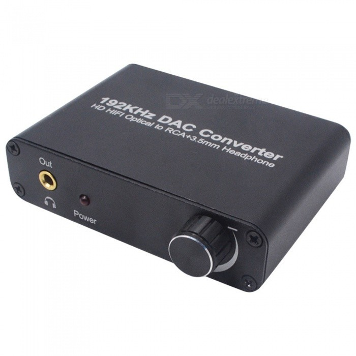 Digital to Analog Fiber SPDIF Coaxia to Analog L/R 5.1 Audio decoder - Black