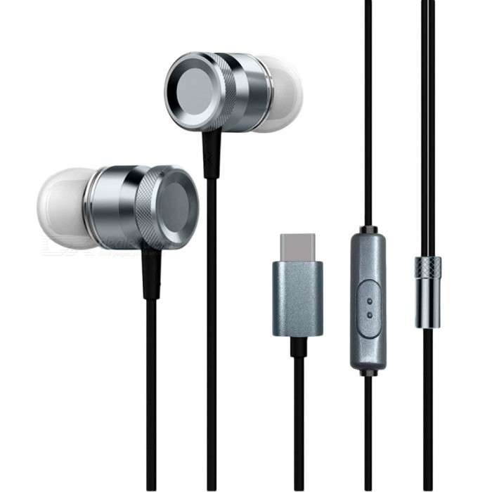 Metal In Ear Type-C Stereo Earphone with Microphone for Xiaomi