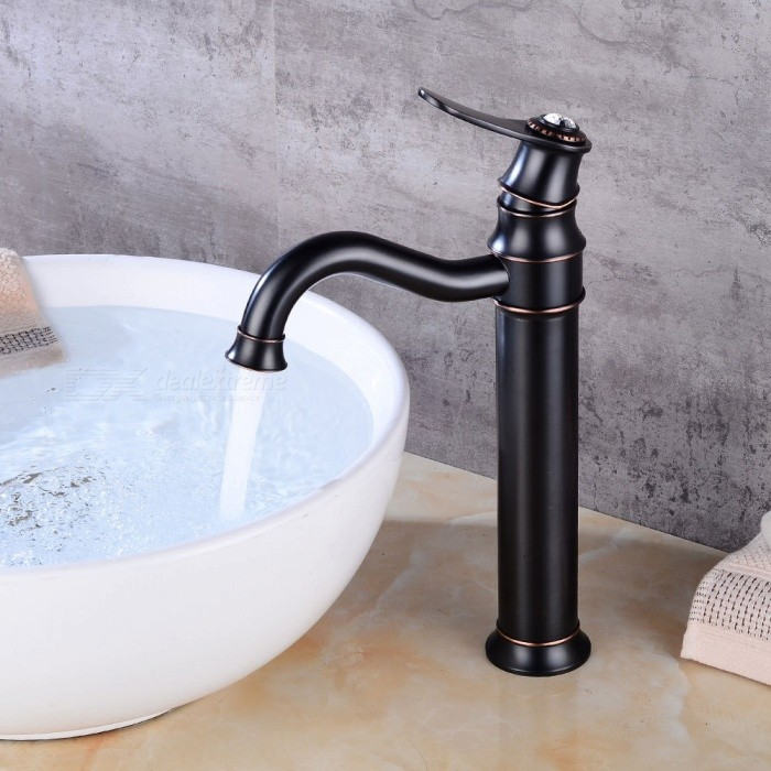 Br Waterfall Oil Rubbed Bronze 360 Degree Rotatable Ceramic Valve One Hole Bathroom Sink