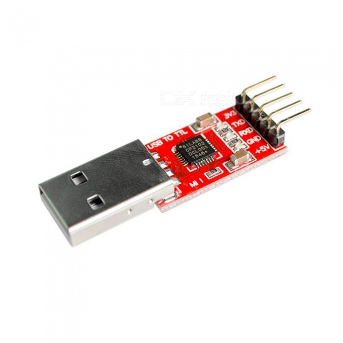 ZHAOYAO CP2102 Module USB to TTL Serial UART STC Download Cable PL2303 Super Brush Line Upgrade - Red