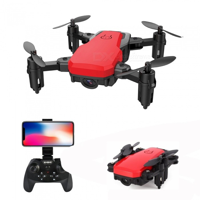 SG800 RC Helicopter 2.4G 4 Channel Wi-Fi FPV Foldable Mini RC Quadcopter Pocket Drone with 0.3MP Camera - Red for sale for the best price on Gipsybee.com.