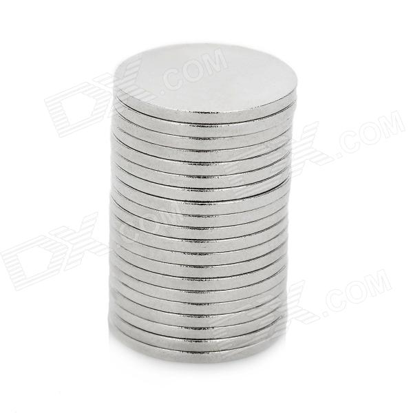 Super Strong Rare-Earth RE Magnets -Silver (20PCS/12mm*1mm)