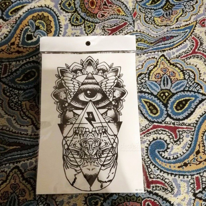 1 Piece Flower Arm Pattern Tattoo Stickers Dragon Waterproof Temporary Tattoo Sticker Diy Cover The Scar Paper